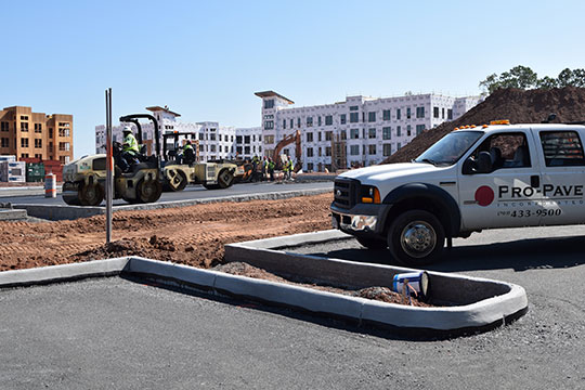 Pro-Pave, Inc.'s paving work at Windmill Parc in Dulles, Virginia