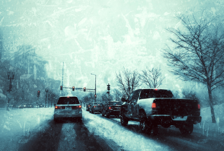 icy pavement
