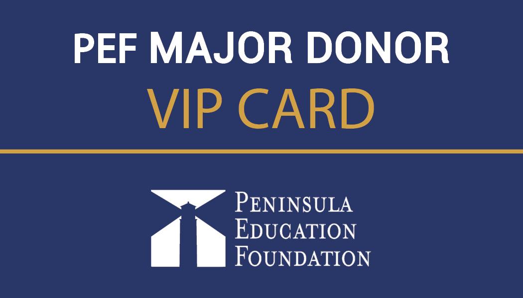Major Donor VIP Card