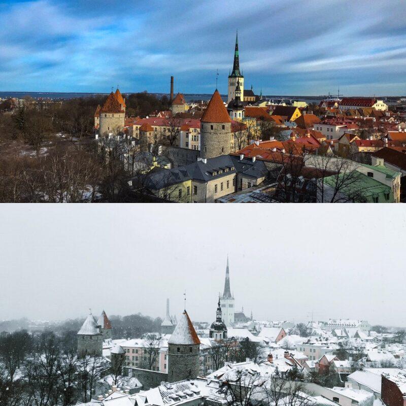 outono x inverno na estonia