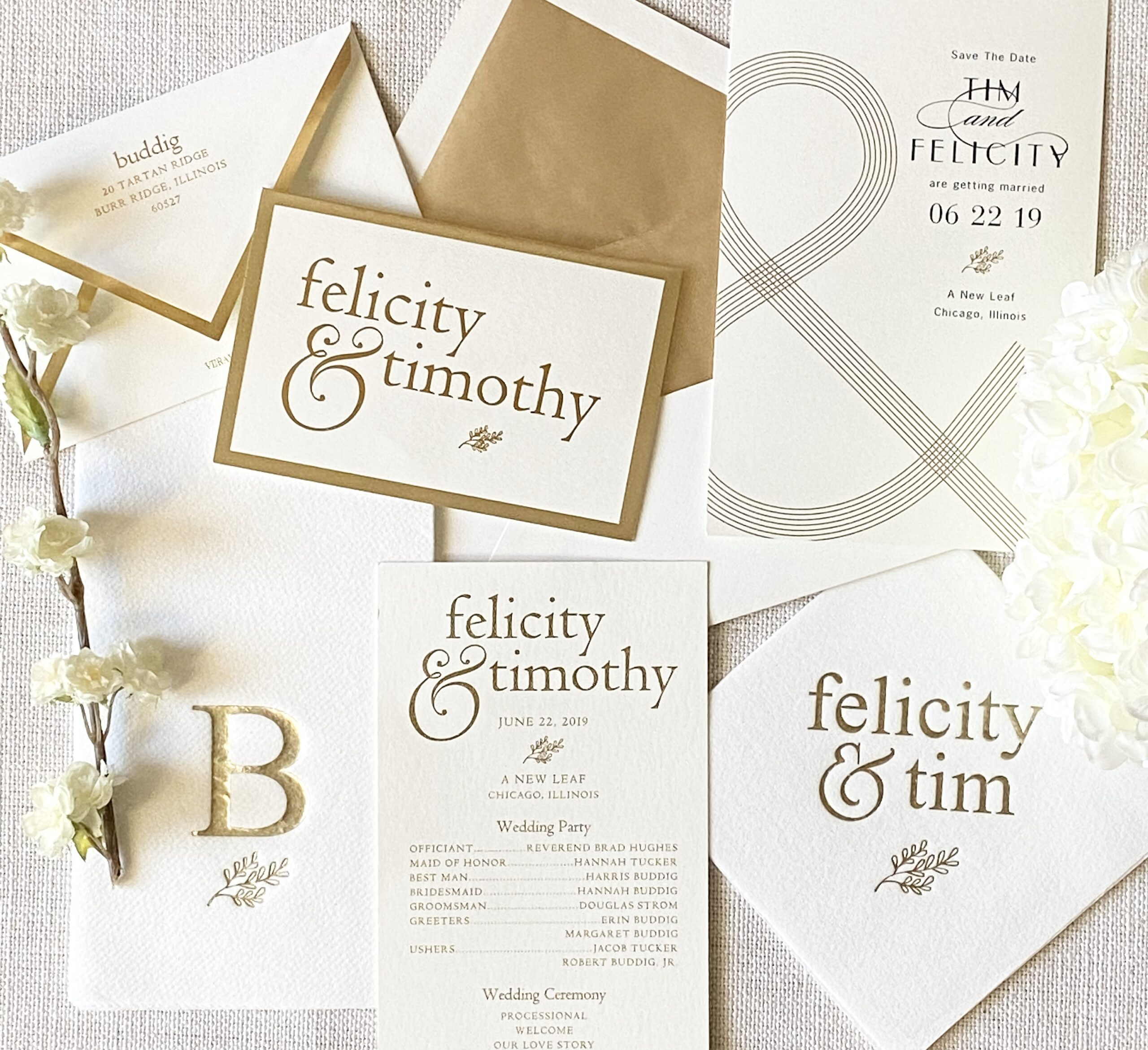 Gold Foil Invitaition