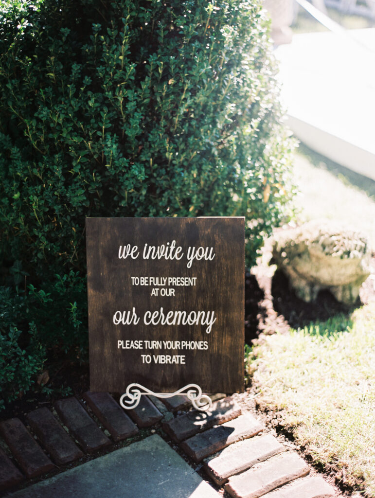 Hinsdale Wedding Signage