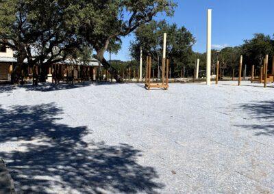 Playground turf with padding installed
