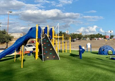 Artificial Turf on Playset