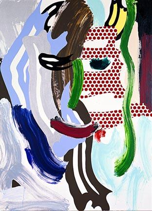 Face (green nose) by Roy Lichtenstein