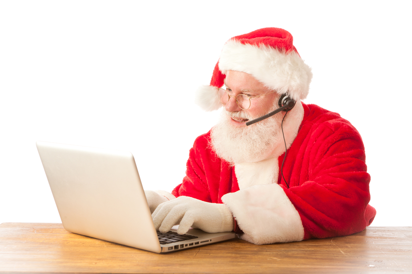 Happy Santa Clause Recruiting