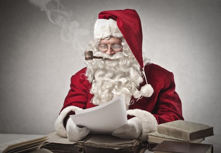Santa Claus Check His List