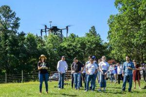 Precision Hawk Team Flying a Drone