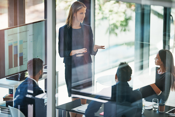 Female Sales Manager Leading a Meeting