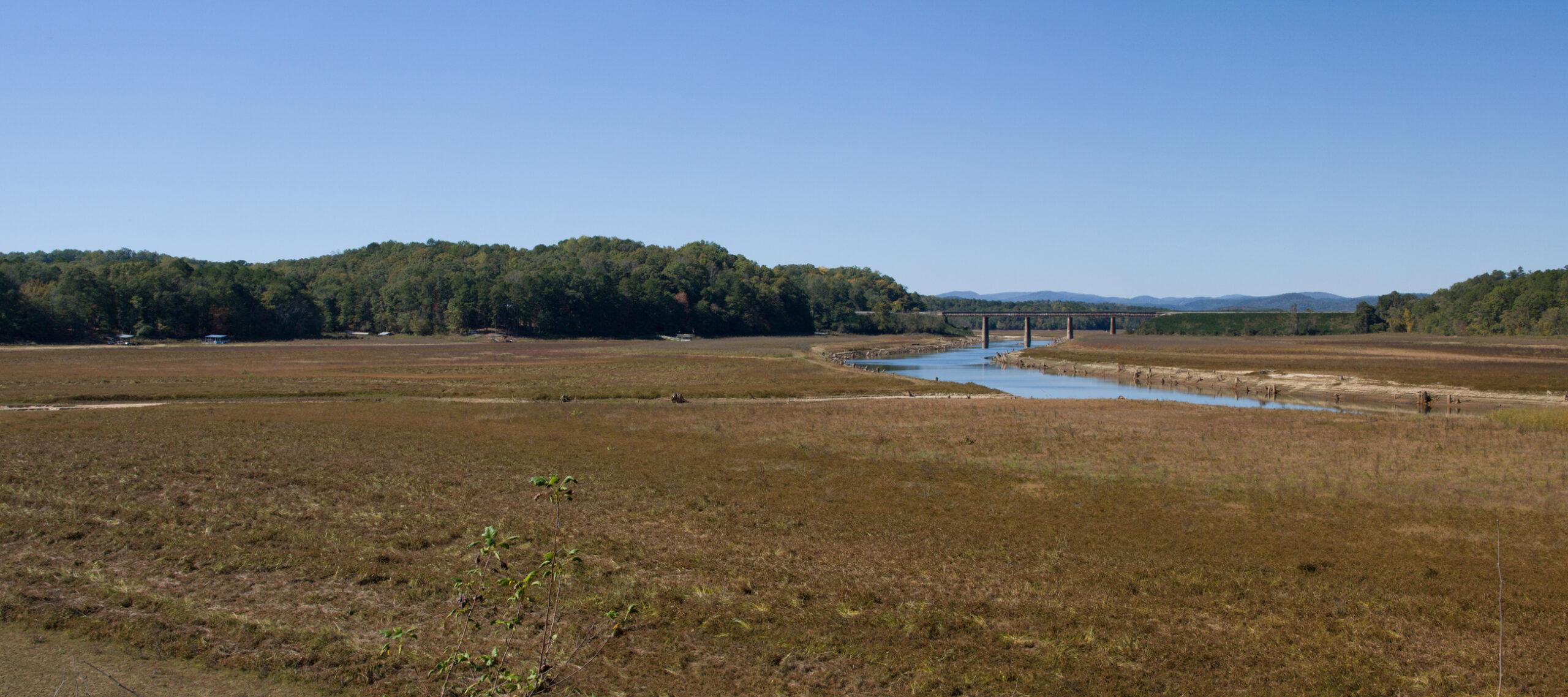 Historic 18 foot drought to the 56,000 Acre Lake Hartwell near Toccoa  Georgia