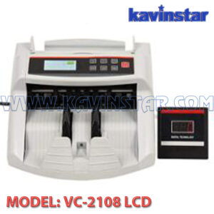 currency counting machine with fake note detector lcd white