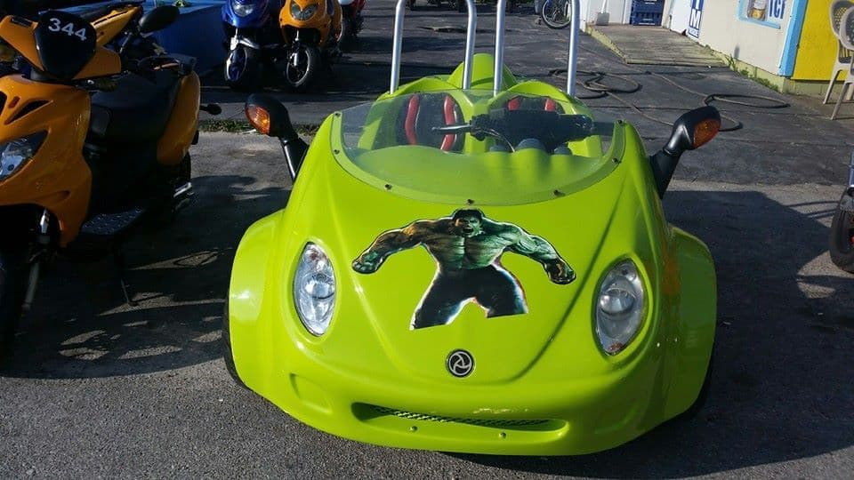 Outlaw Rentals Panama CIty Beach Scoot Coupe Rentals Green