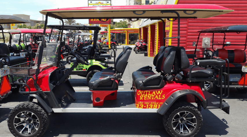Outlaw Rentals Panama City Beach Golf Cart Rentals Red
