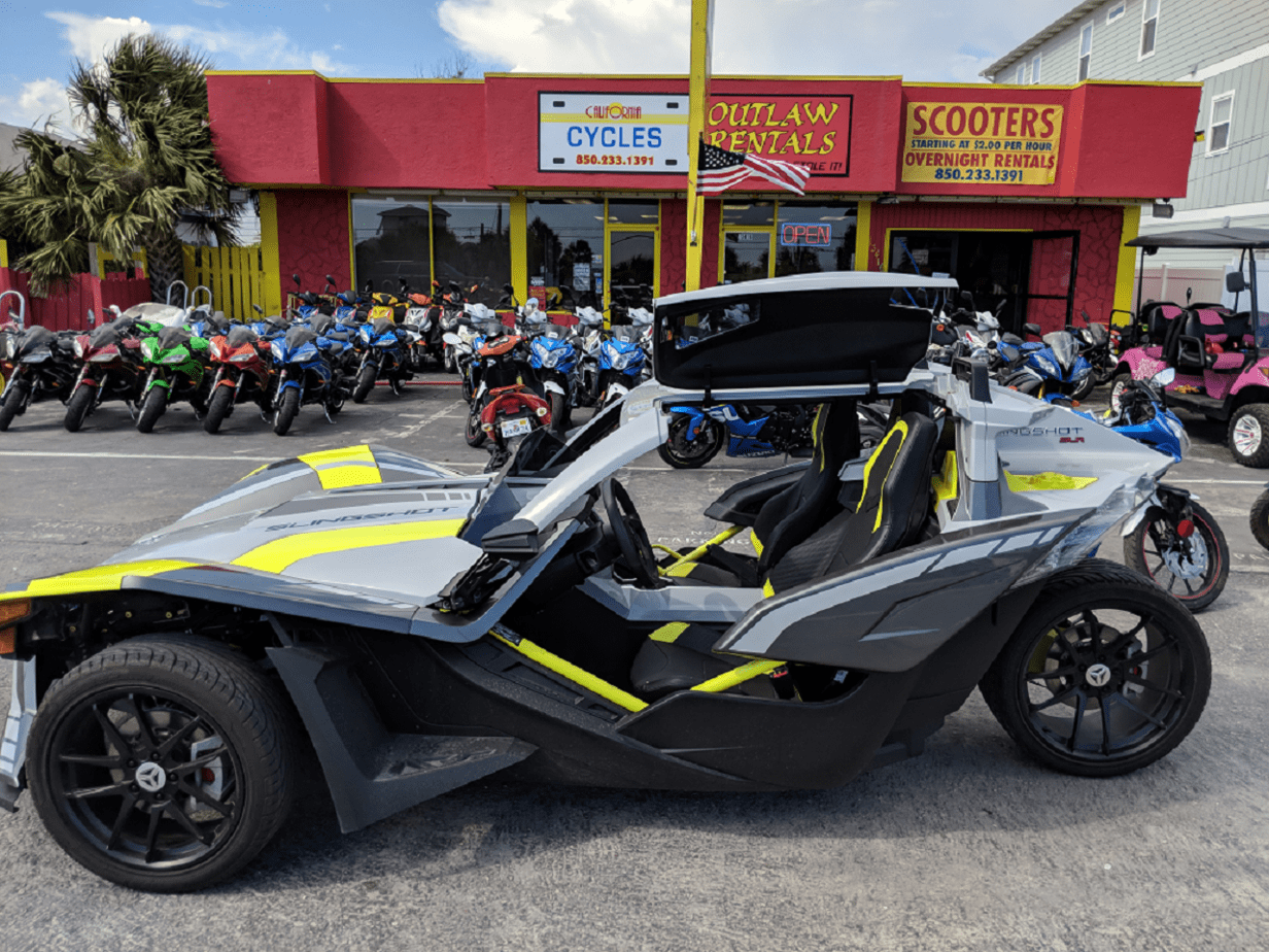 California Cycles - Outlaw Rentals - Panama City Beach Scooter Rentals