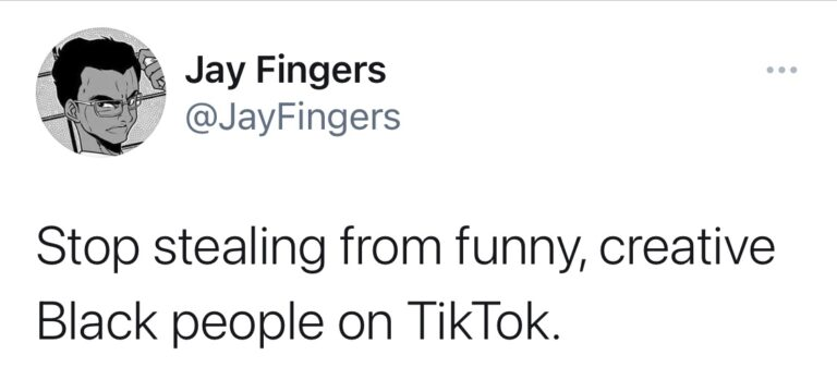 Stop Stealing From Black TikTokkers