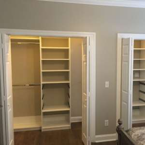 Reach in Closets Custom System Chattanooga