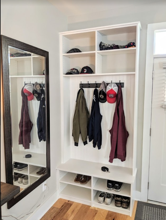 Custom biult mudroom