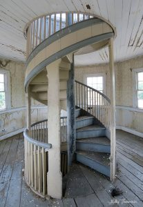 Stairs to Zoar Hotel cupola