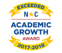 2017-2018 NC Exceeded Academic Growth Badge