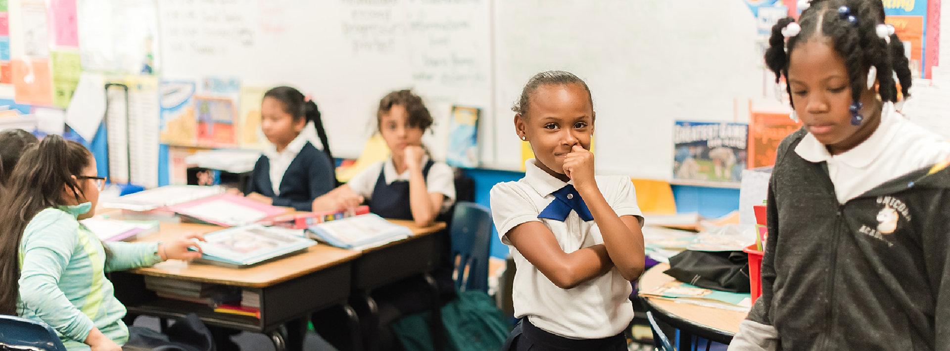 portrait of student inside the classroom