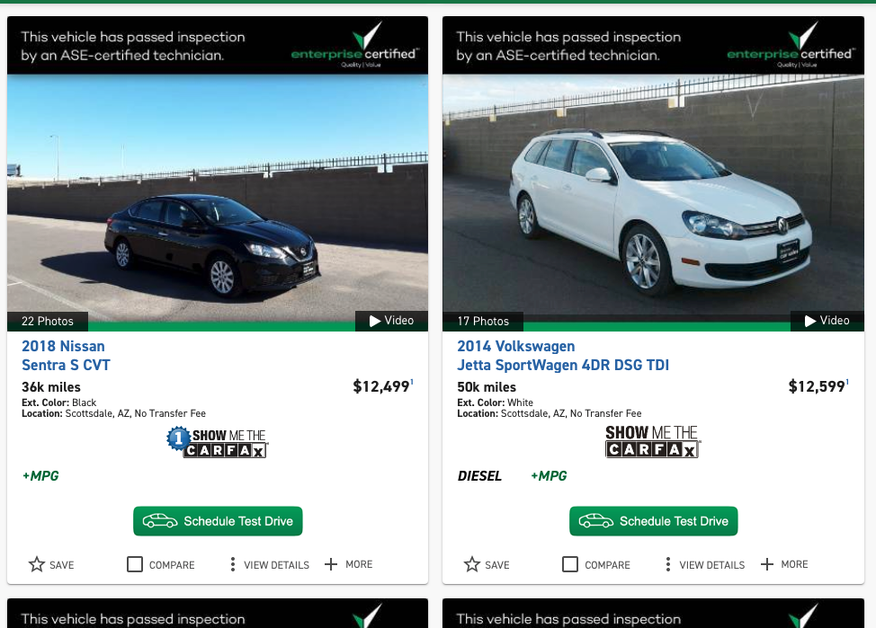 Phoenix AZ area business Enterprise Car Sales