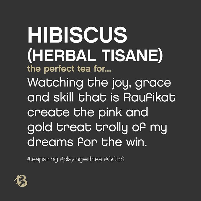 hibiscus (herbal tisane) :: tea pairing