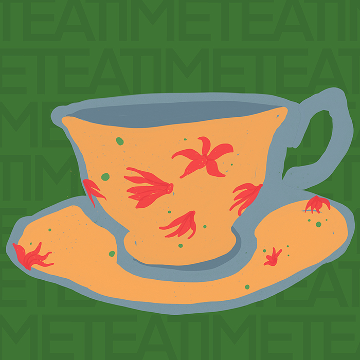 teacup10 :: painted collage art