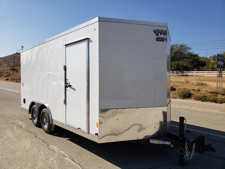 Big10 8x16 V-Nose 10K - Passenger side front 3/4 view