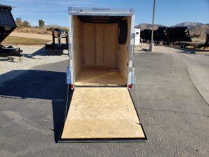 Wells Cargo 5x10 RFV-Nose Ramp - View from outside ramp door open