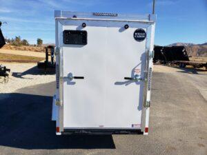 Wells Cargo 5x10 RFV-Nose Ramp - Rear view door closed