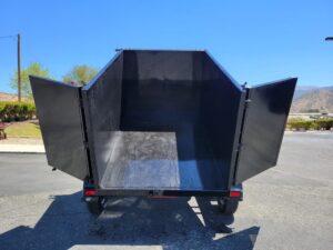Five Star 5x8 7K Dump4ft - Rear view doors open bed up