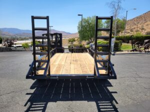 Rear view fold-up ramps up