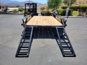 Triple GGG 14FT EquipHauler 14K - Rear view fold-up ramps down