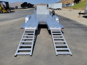 102 Ironworks Challenger 18ft10K - Rear view ramps out