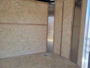 View of interior through side door
