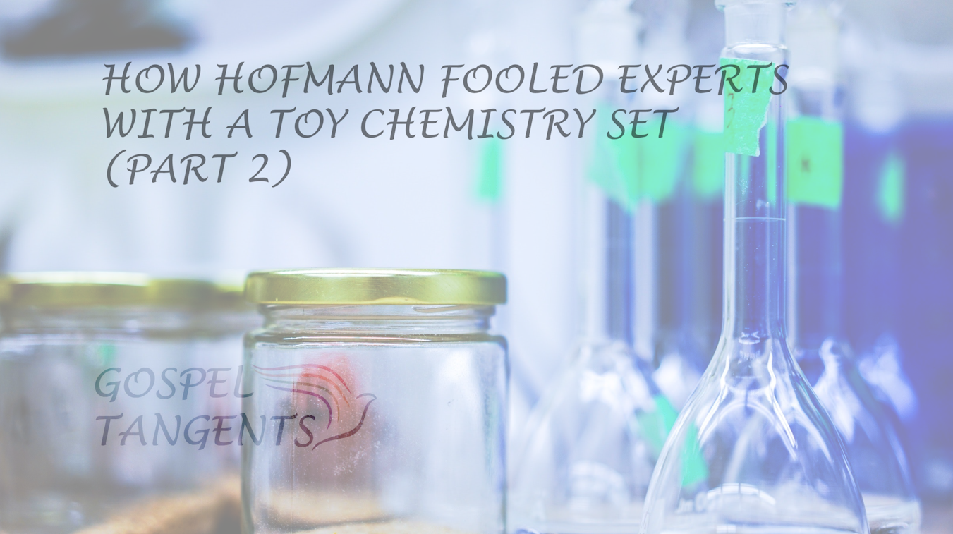 Mark Hofmann used a toy chemistry set to fool the FBI lab.