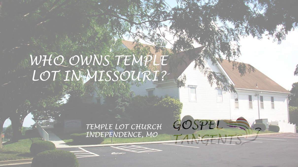 This is the Temple Lot Church, owned by the Hedrickites.