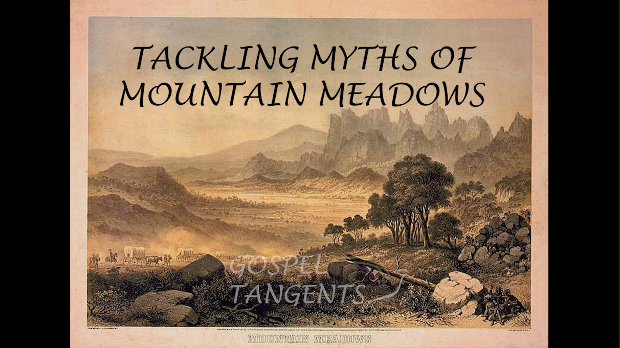 Public Domain photo of painting from 1800s of Mountain Meadows.