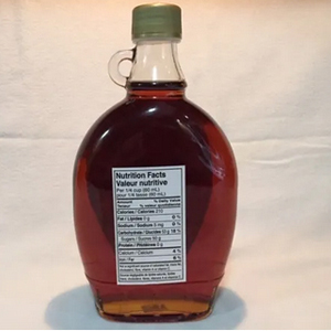 Pure 100% Maple Syrup-500ml Glass Bottle