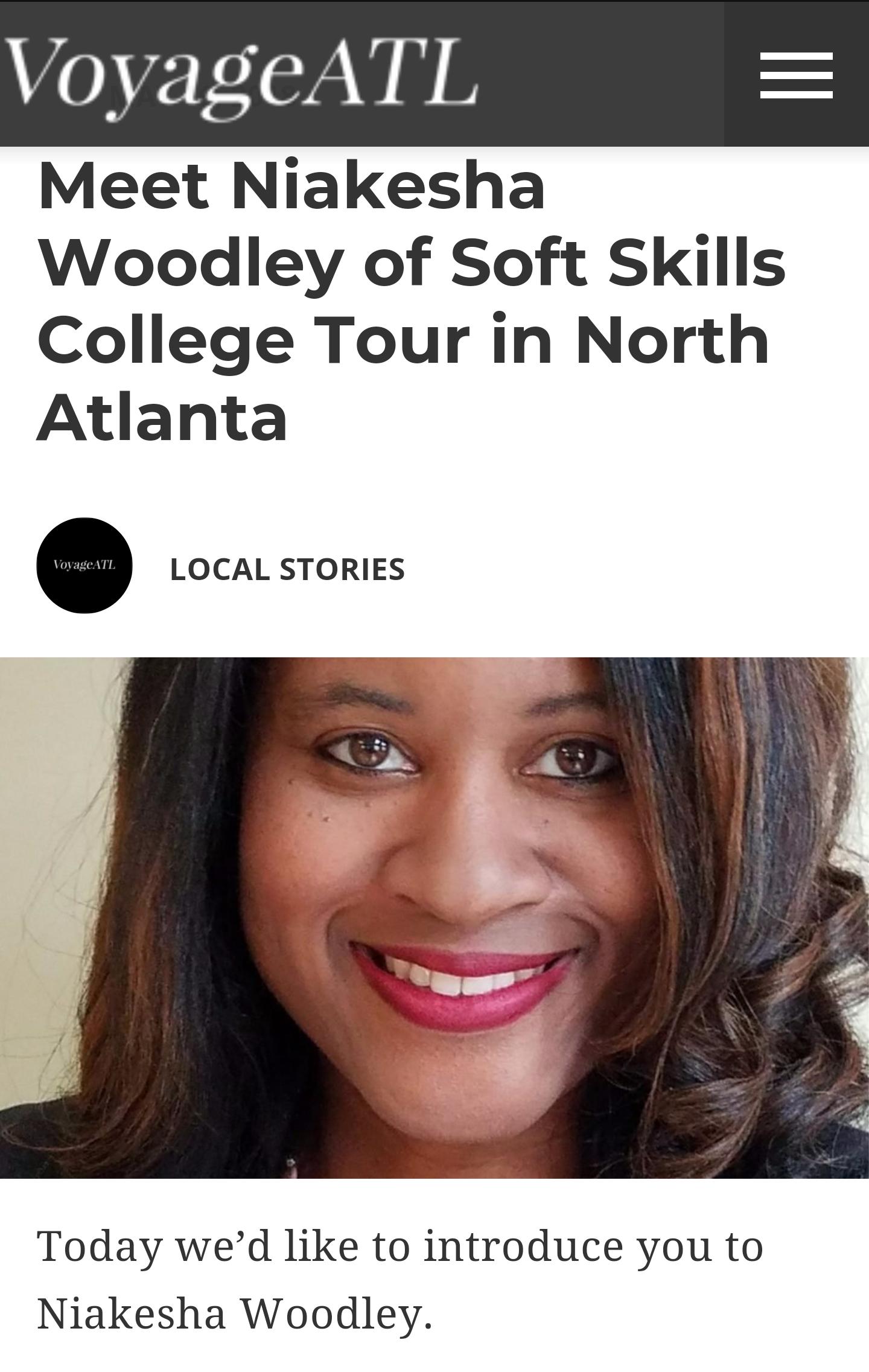 Soft Skills College Tour Featured in VoyageATL Magazine