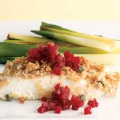 Roasted Halibut with Pickled Beets