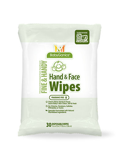 BabyGanics Fine and Handy Hand and Face Wipes