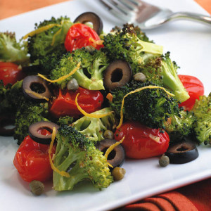 Mediterranean Roasted Broccoli