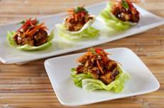 Tofu and Walnut Lettuce Cups