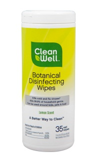 CleanWell Botanical Wipes