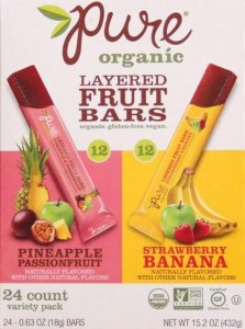 Pure Organic Layered Fruit Bars