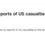 尚未有美军在袭击中伤亡报告