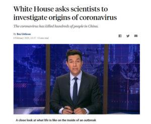 川普命令美国科学家调查武汉肺炎病毒来源
