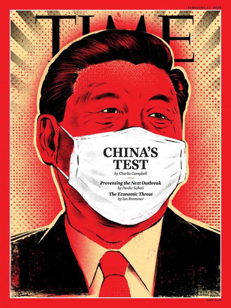 《时代杂志》最新封面是习近平漫画
