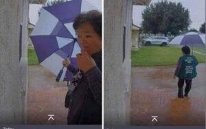 移动生化武器?网传美国华人大妈挨家挨户抹口水